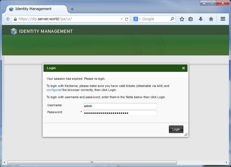 CentOS 7 : FreeIPA : Web Management Console : Server World
