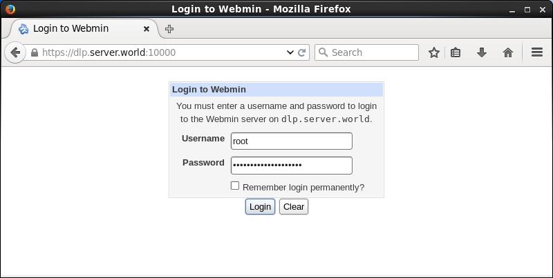 CentOS 7 : Install Webmin : Server World